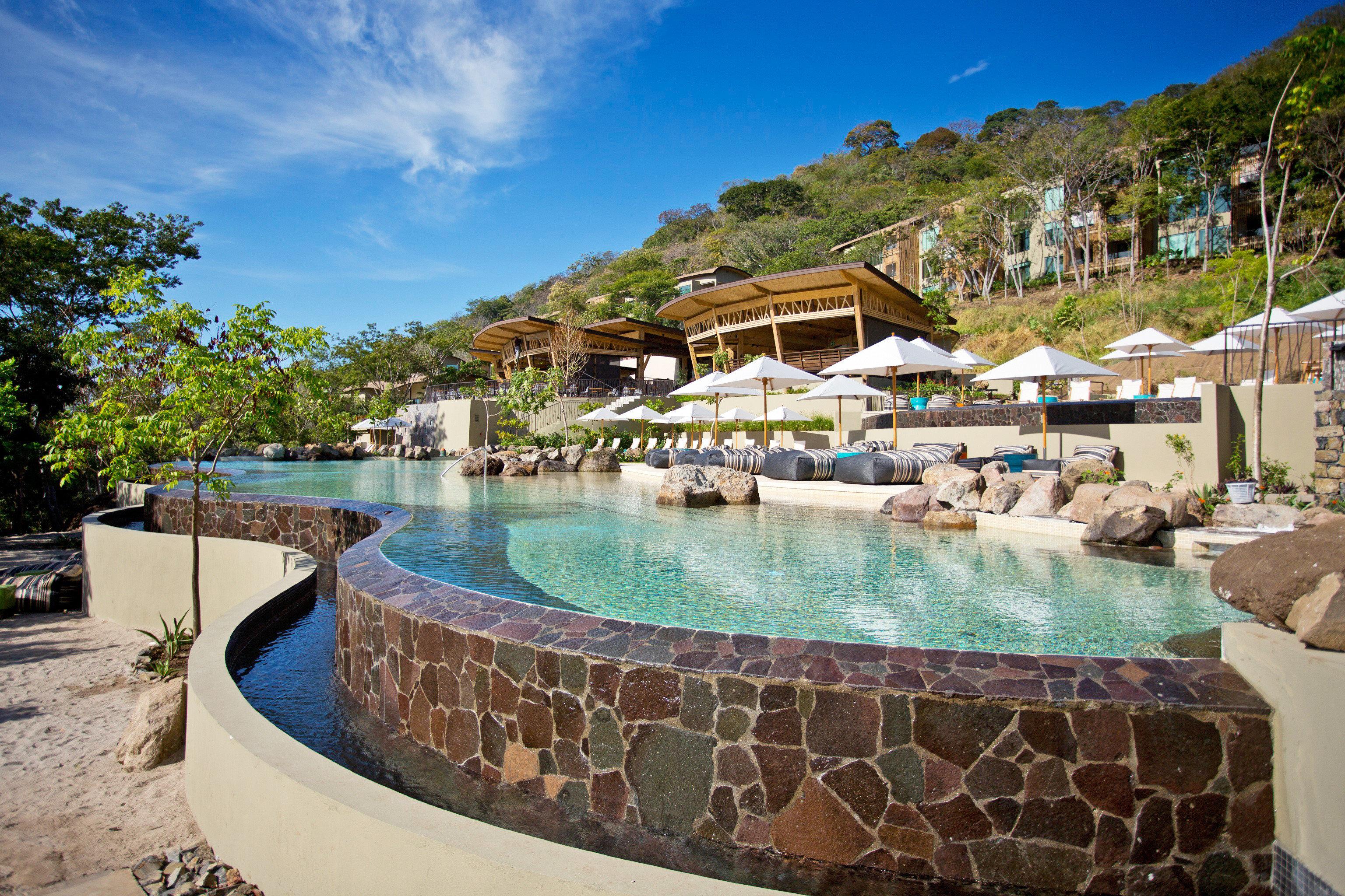 Hotels Pool Resort Scenic views sky outdoor swimming pool leisure property vacation estate resort town Village Villa bay Lagoon stone Garden
