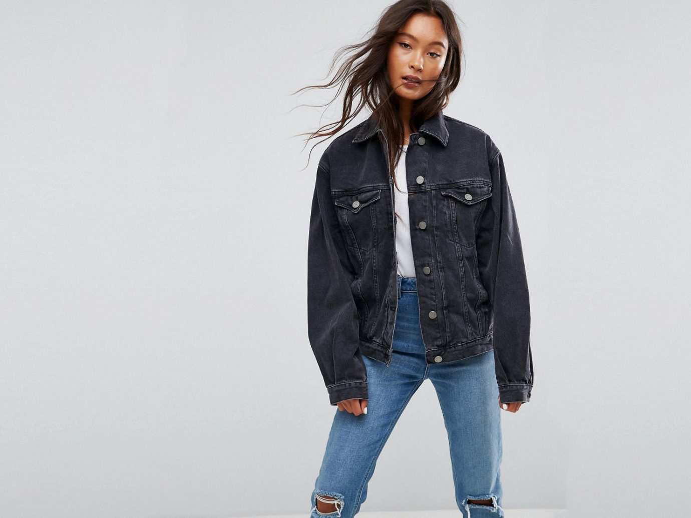 Style + Design Travel Shop person denim jeans jacket standing fashion model outerwear sleeve trousers trouser