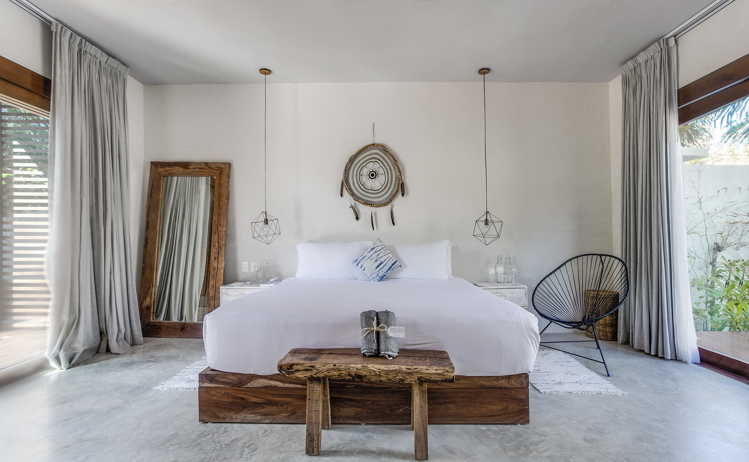 Boutique Hotels City Hotels Mexico Trip Ideas Tulum indoor floor wall room Living window Bedroom property furniture estate ceiling home interior design living room bed real estate cottage bed frame Design Suite mansion area