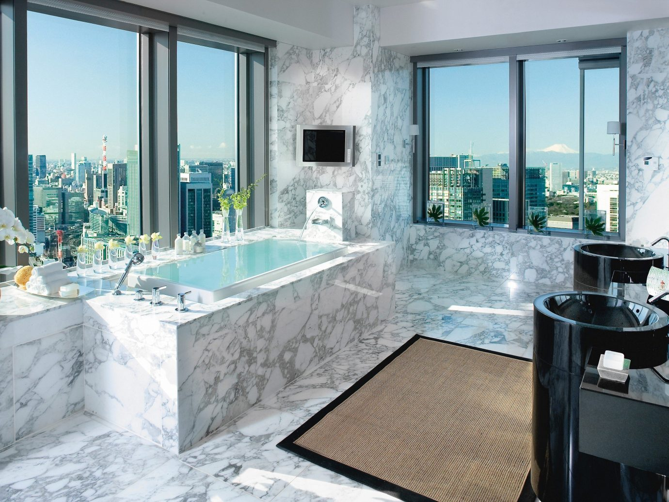 Hotels Japan Romance Tokyo window indoor swimming pool room floor property estate home interior design bathroom jacuzzi bathtub mansion condominium living room Design Suite Villa Modern furniture