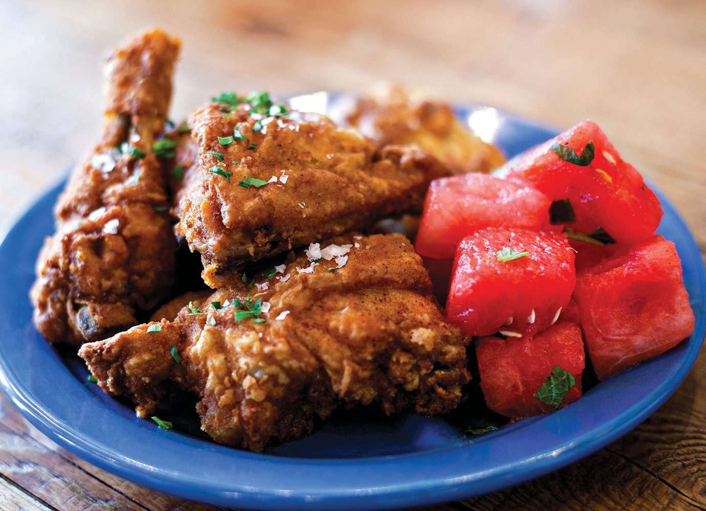 Travel Tips plate food dish fried food fried chicken cuisine animal source foods blue meat recipe chicken meat asian food meal