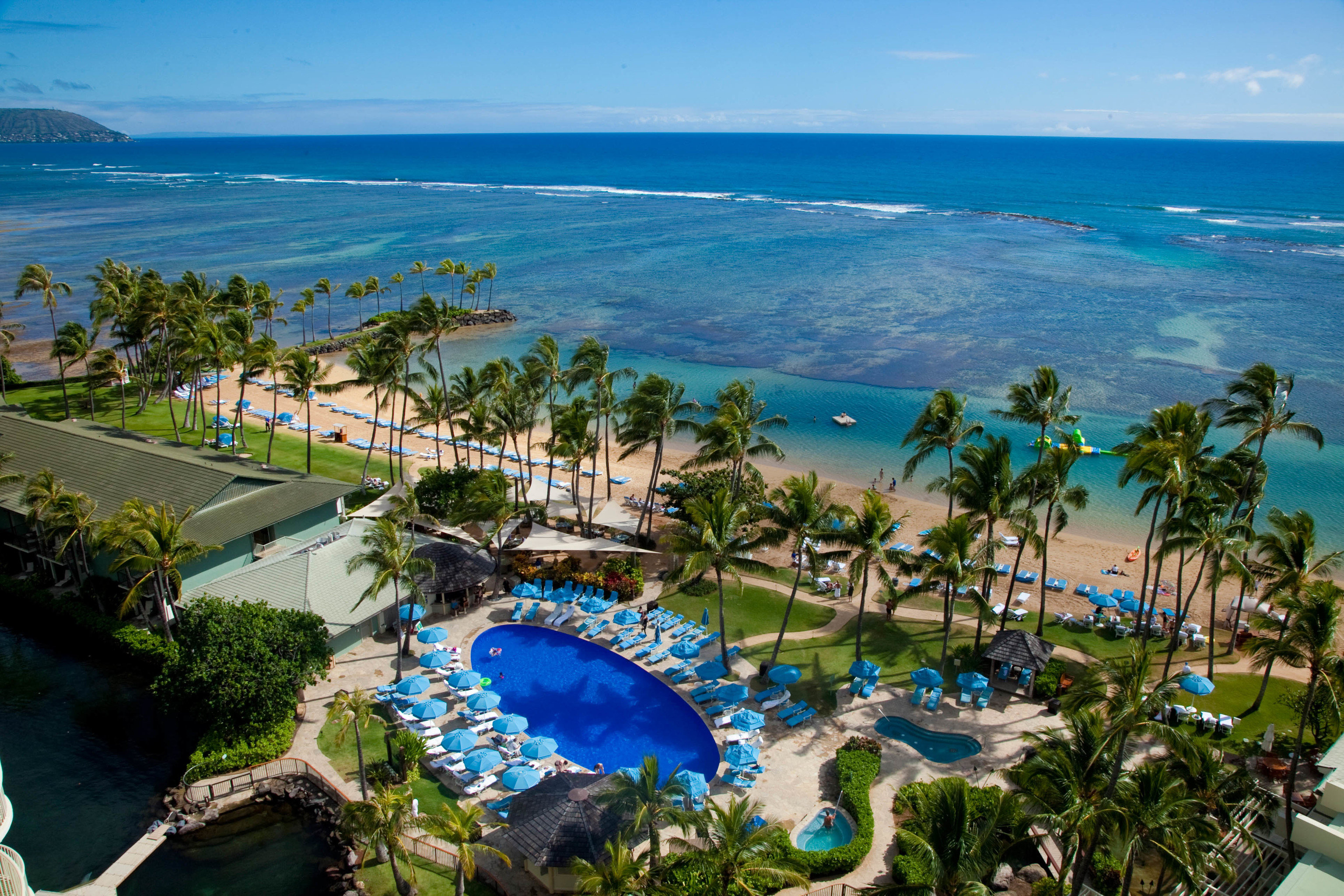 Boutique Hotels Hawaii Honolulu Hotels Resort resort town leisure swimming pool tourism tropics palm tree vacation caribbean Sea arecales water bay aerial photography real estate Lagoon sky estate Coast tree Ocean hotel