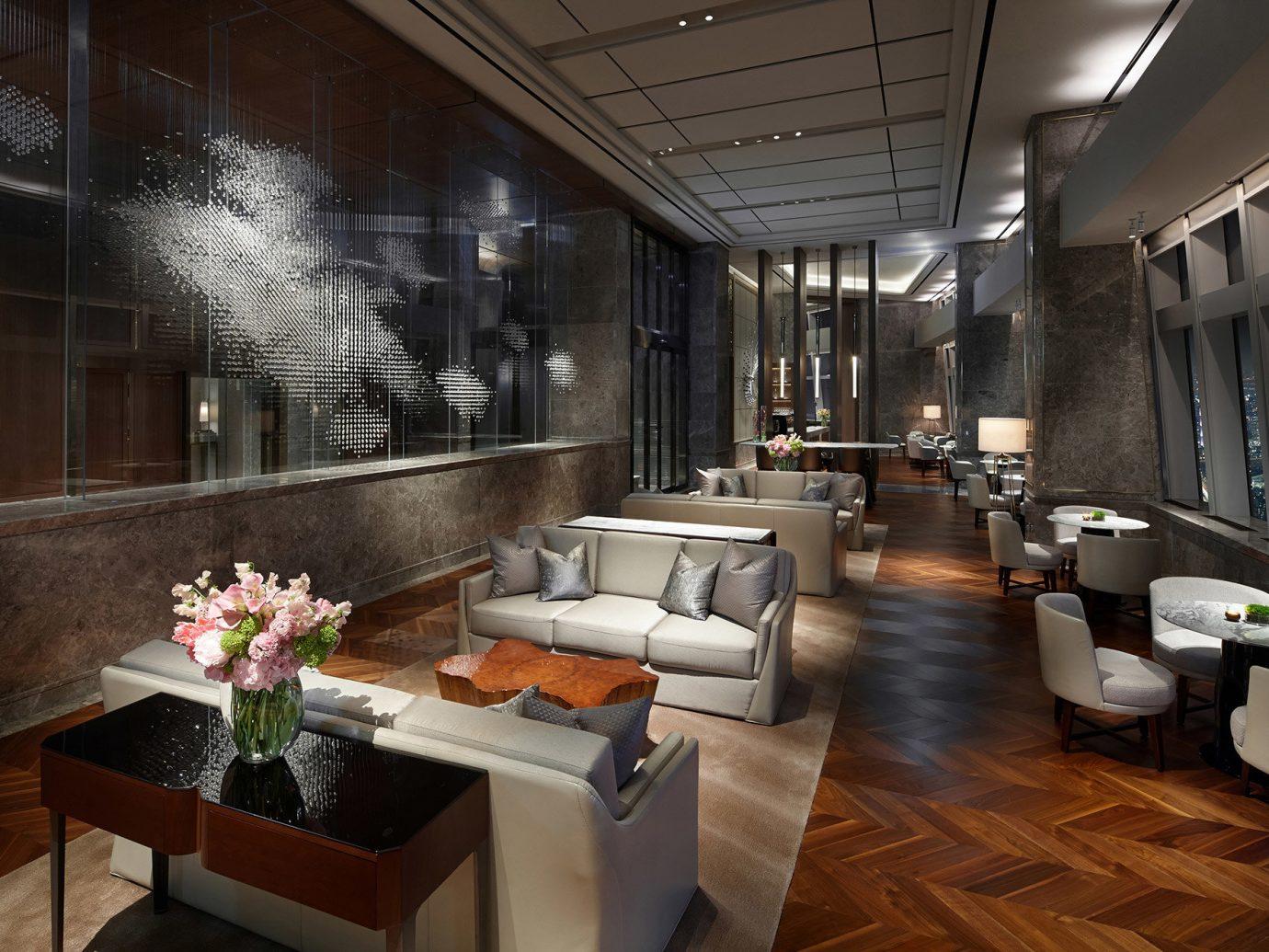 Hotels Luxury Travel table indoor floor interior design room Lobby furniture living room loft ceiling interior designer