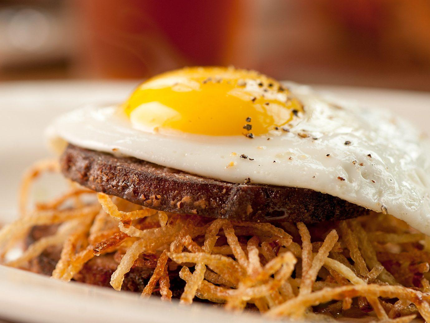 Food + Drink food indoor dish plate meal breakfast cuisine meat produce pulled pork hamburger close