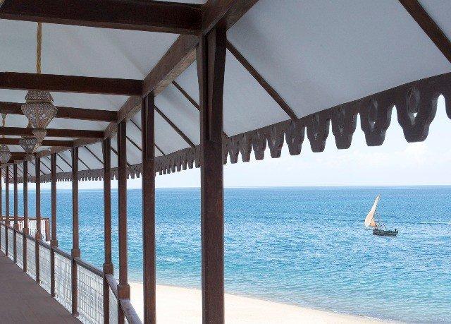 water chair Resort Ocean Pool overlooking shore swimming