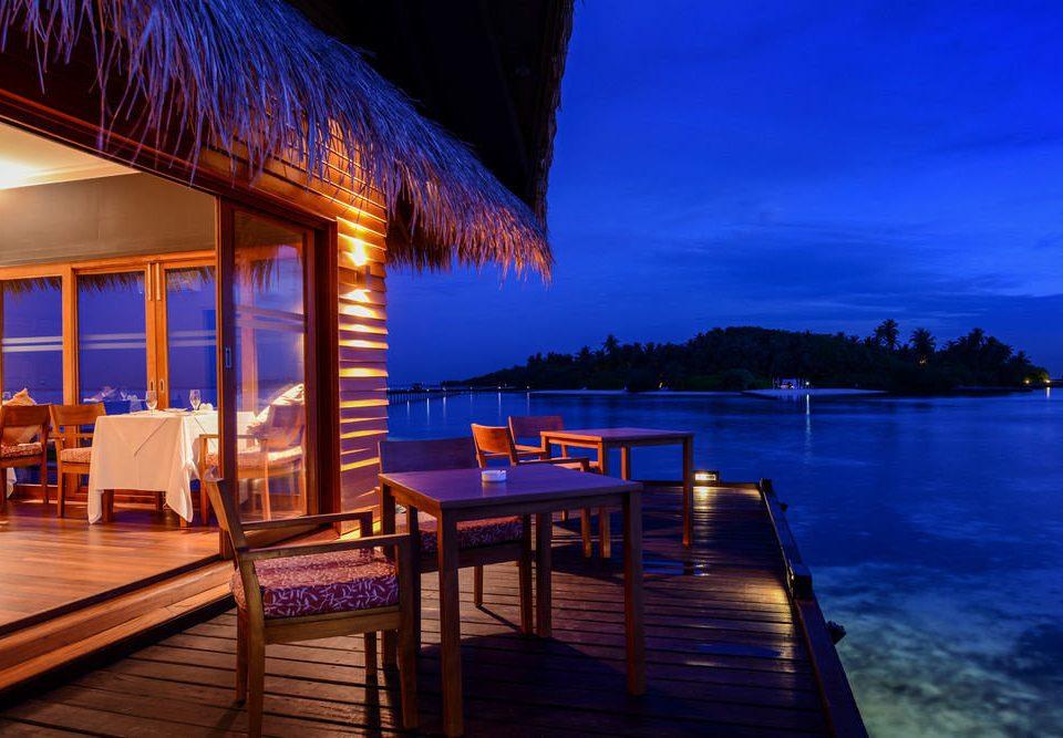 chair Resort evening Ocean swimming pool Sea dusk