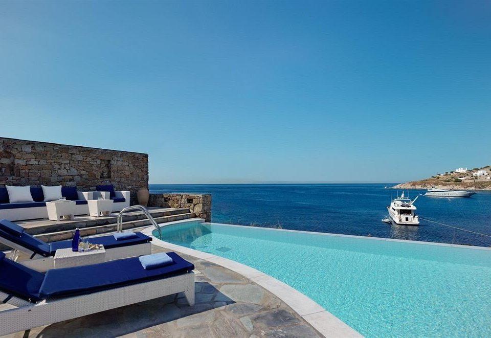 sky water swimming pool property Sea Resort Ocean blue caribbean vehicle passenger ship yacht Villa shore