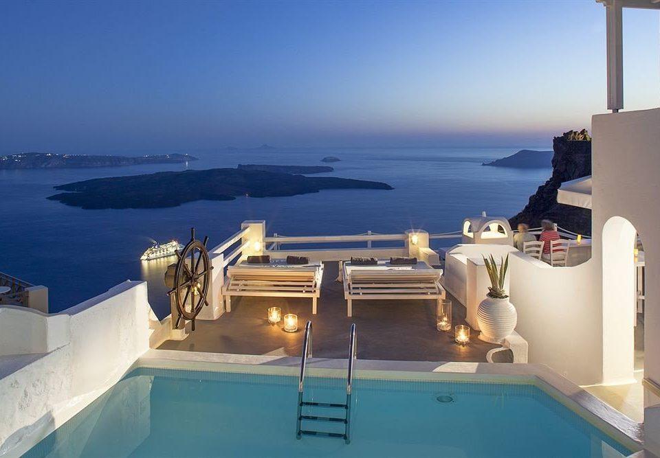 sky water property Sea swimming pool Ocean vehicle Resort Villa passenger ship yacht caribbean overlooking