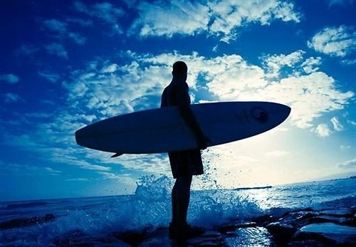 surfing sky water blue surfboard board Ocean surfing equipment and supplies Sea sports carrying extreme sport water sport paddle wave clouds male shore