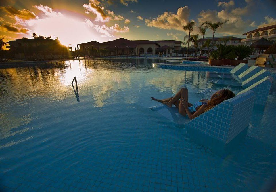 water swimming pool Sea morning Ocean evening sunlight dusk
