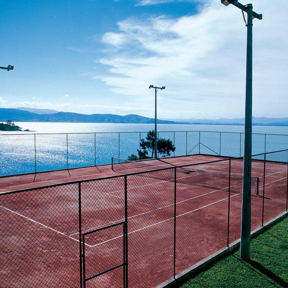 sky structure walkway swimming pool sport venue Sea Ocean net railing overlooking