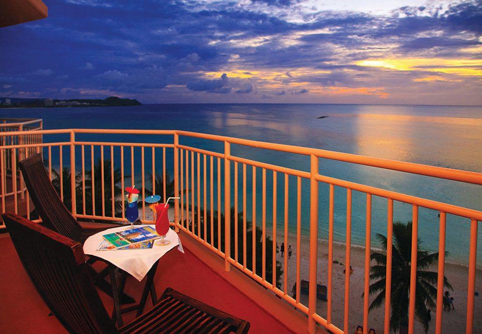 sky water chair scene Sunset Sea Ocean evening overlooking dusk vehicle