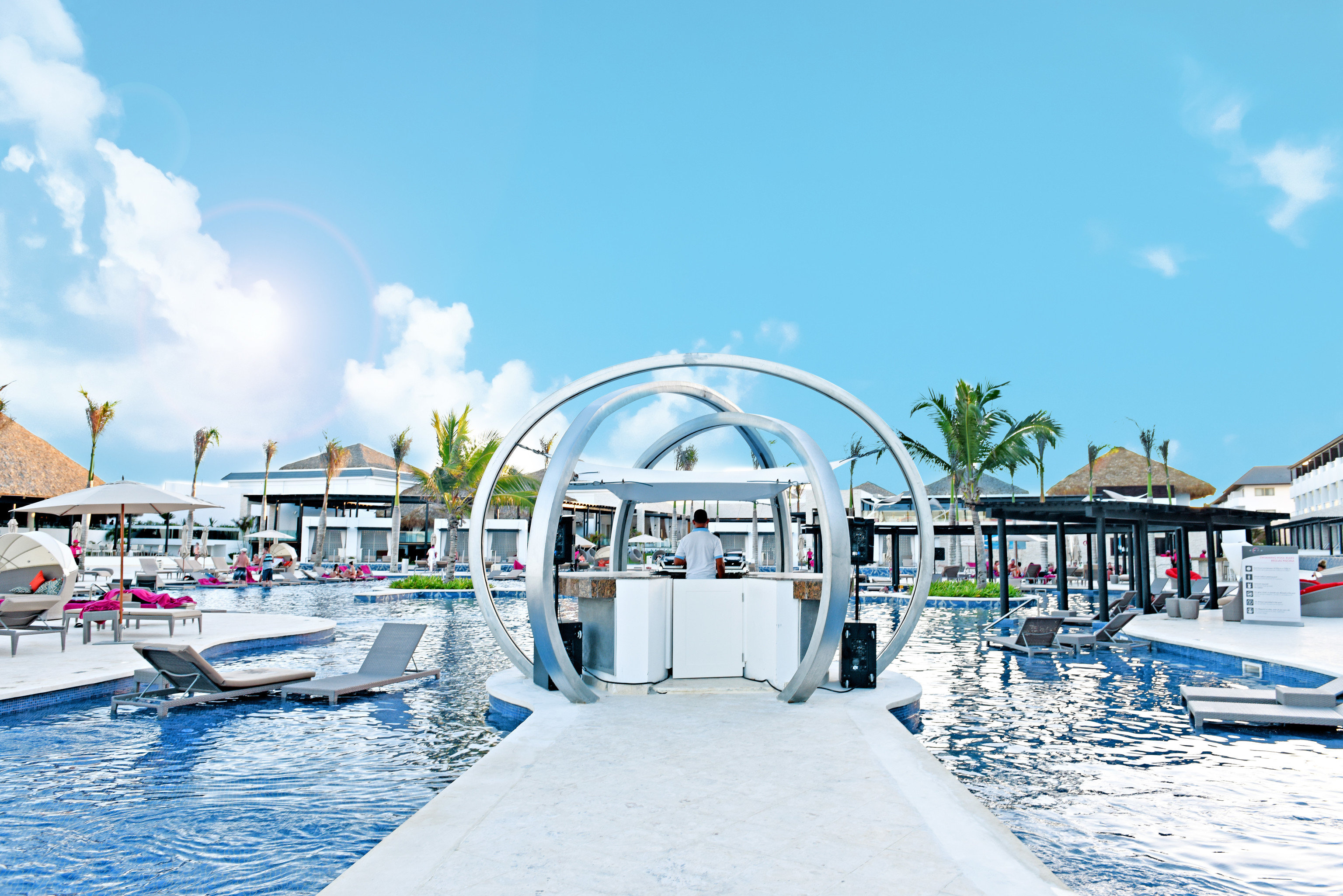 All-Inclusive Resorts Hotels Solo Travel sky outdoor Boat leisure marina Resort vacation swimming pool dock Water park amusement park Sea vehicle boating park