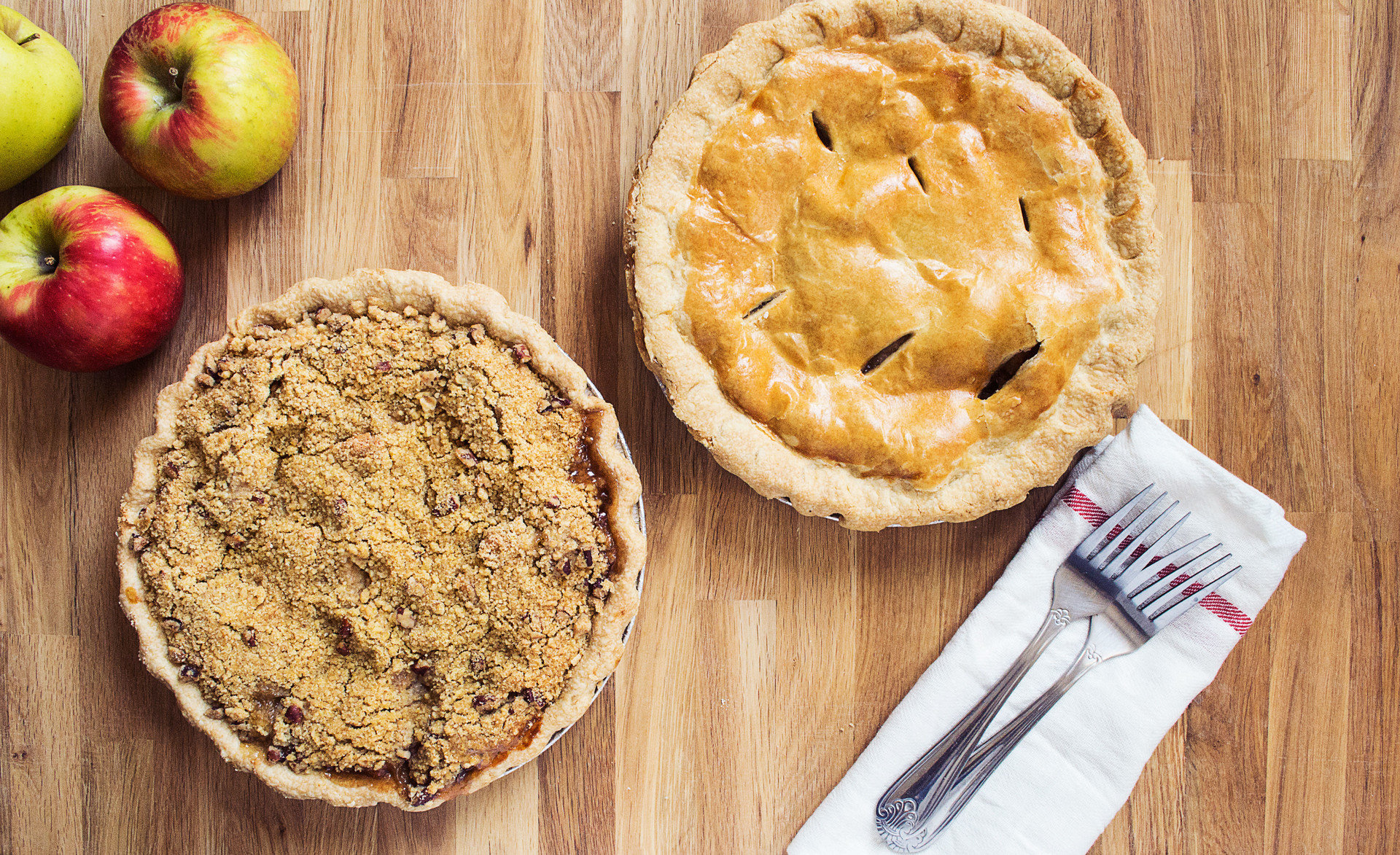 dessert Eat food Food + Drink Offbeat pie sweets wooden table apple dish plant fruit baked goods produce land plant flowering plant breakfast baking meal flavor rose family coconut wood