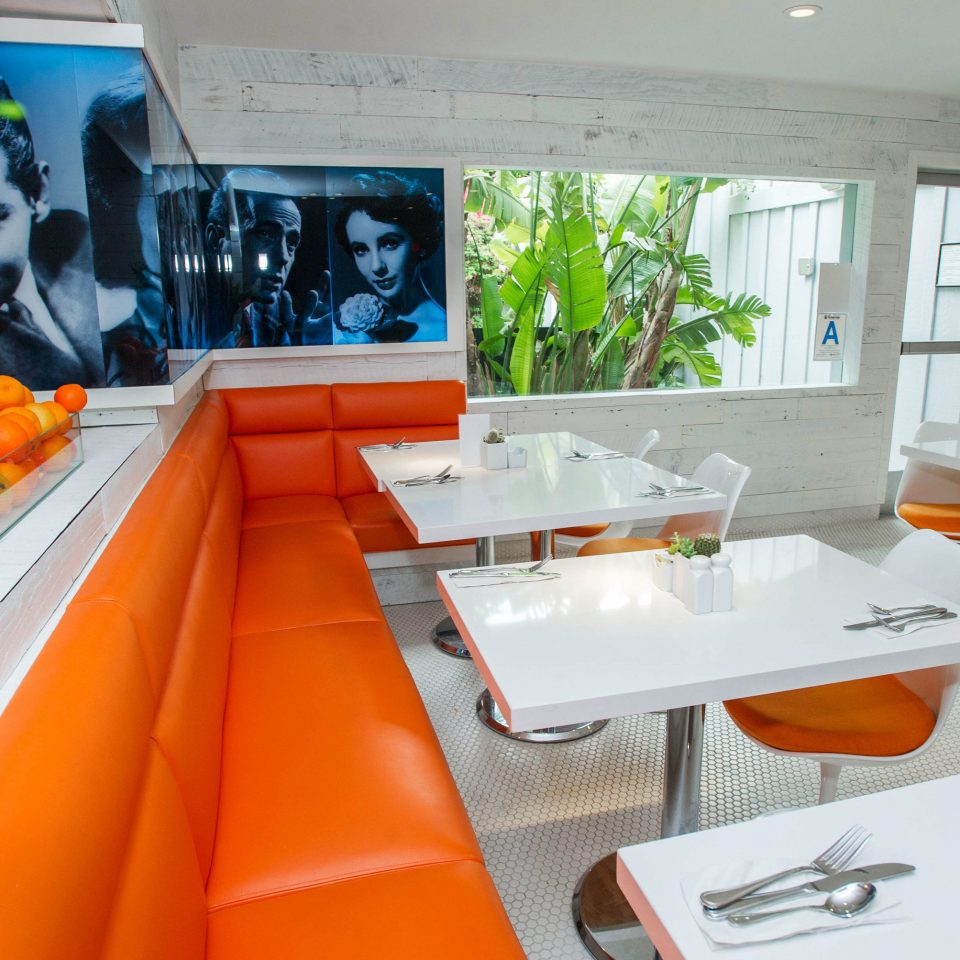 orange restaurant vehicle