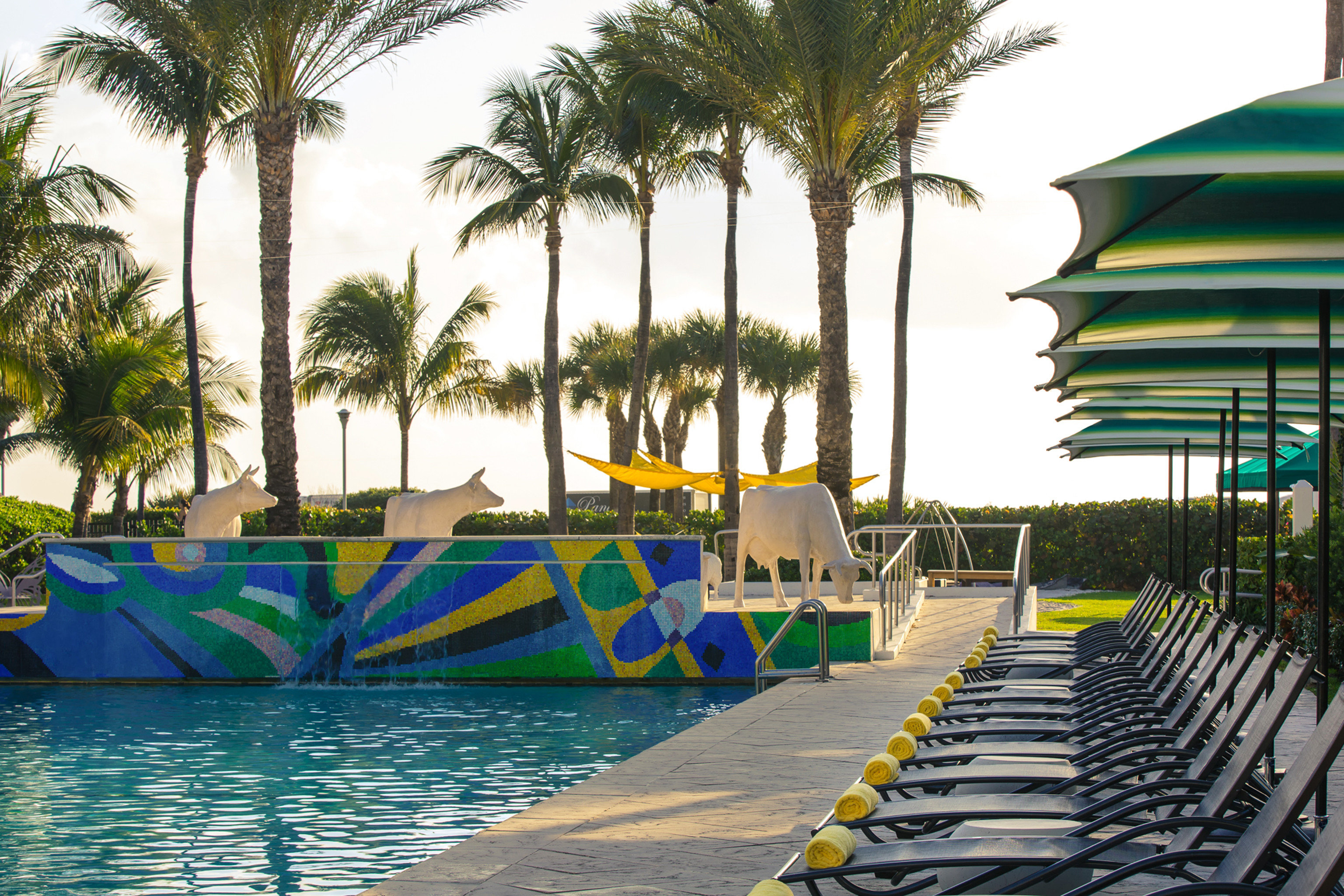 Outdoors Play Pool Resort tree sky leisure swimming pool palm arecales Water park park condominium colorful amusement park caribbean dock lined colored shade