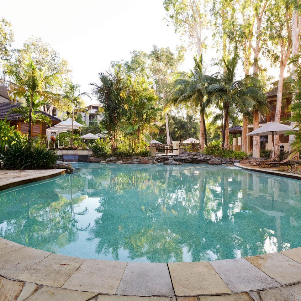 Outdoors Play Pool Resort tree ground swimming pool property backyard green Villa swimming reflecting pool empty