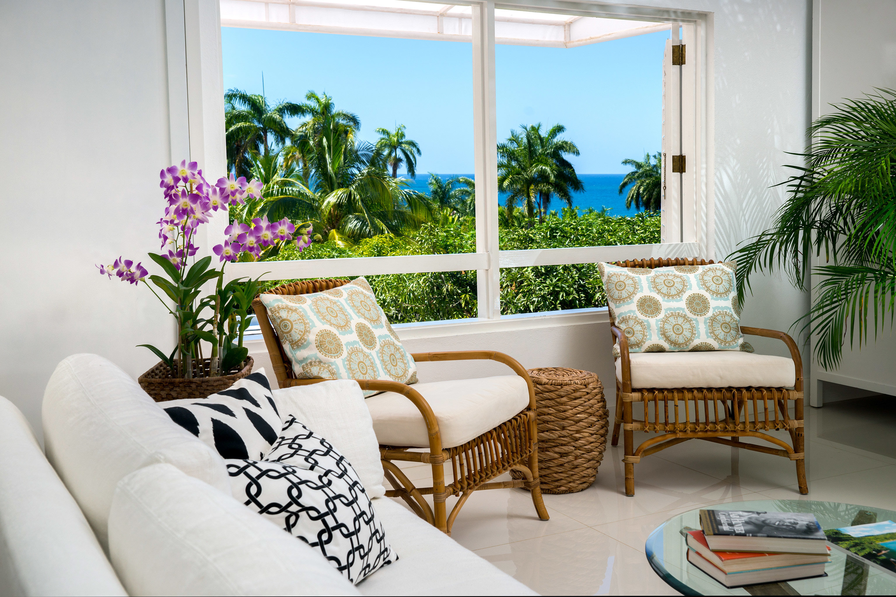 Hotels Living Luxury Ocean indoor room window property living room home condominium estate interior design Villa real estate furniture Design Balcony cottage plant Suite apartment window covering decorated dining table