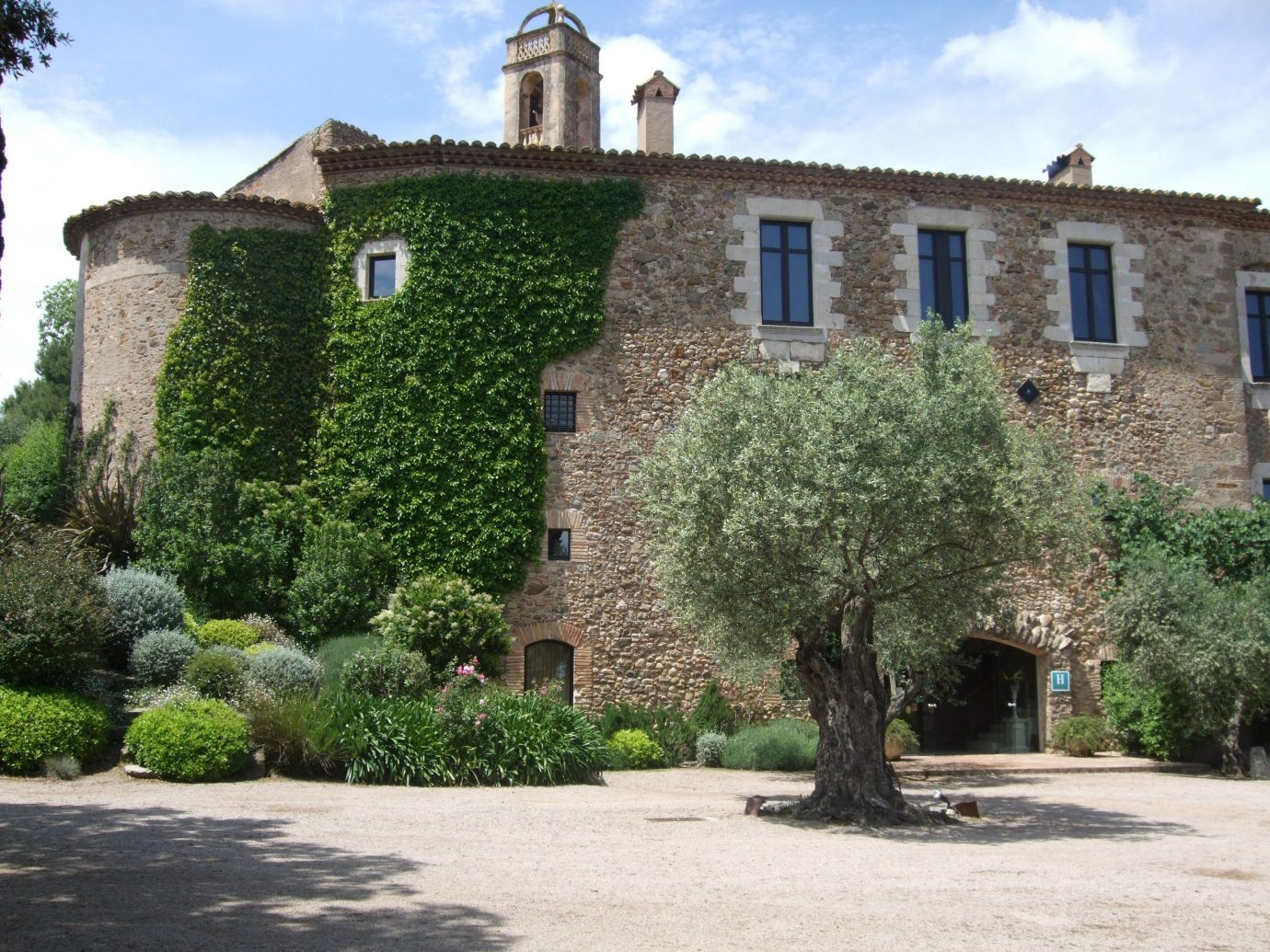 Exterior view of Hotel Castell d'Emporda, Girona, Spain