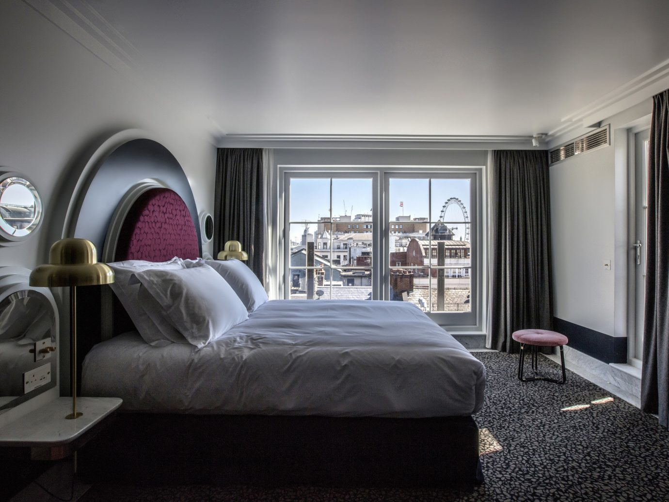 Boutique Hotels London Romantic Hotels indoor wall bed floor room window interior design Bedroom ceiling hotel furniture home Suite bed frame mattress