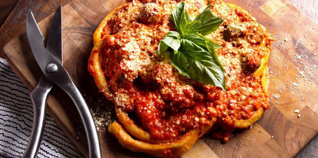 Food + Drink cutting table food dish wooden cuisine produce board slice piece meat vegetable cut italian food meal fried food breakfast vegetarian food sliced