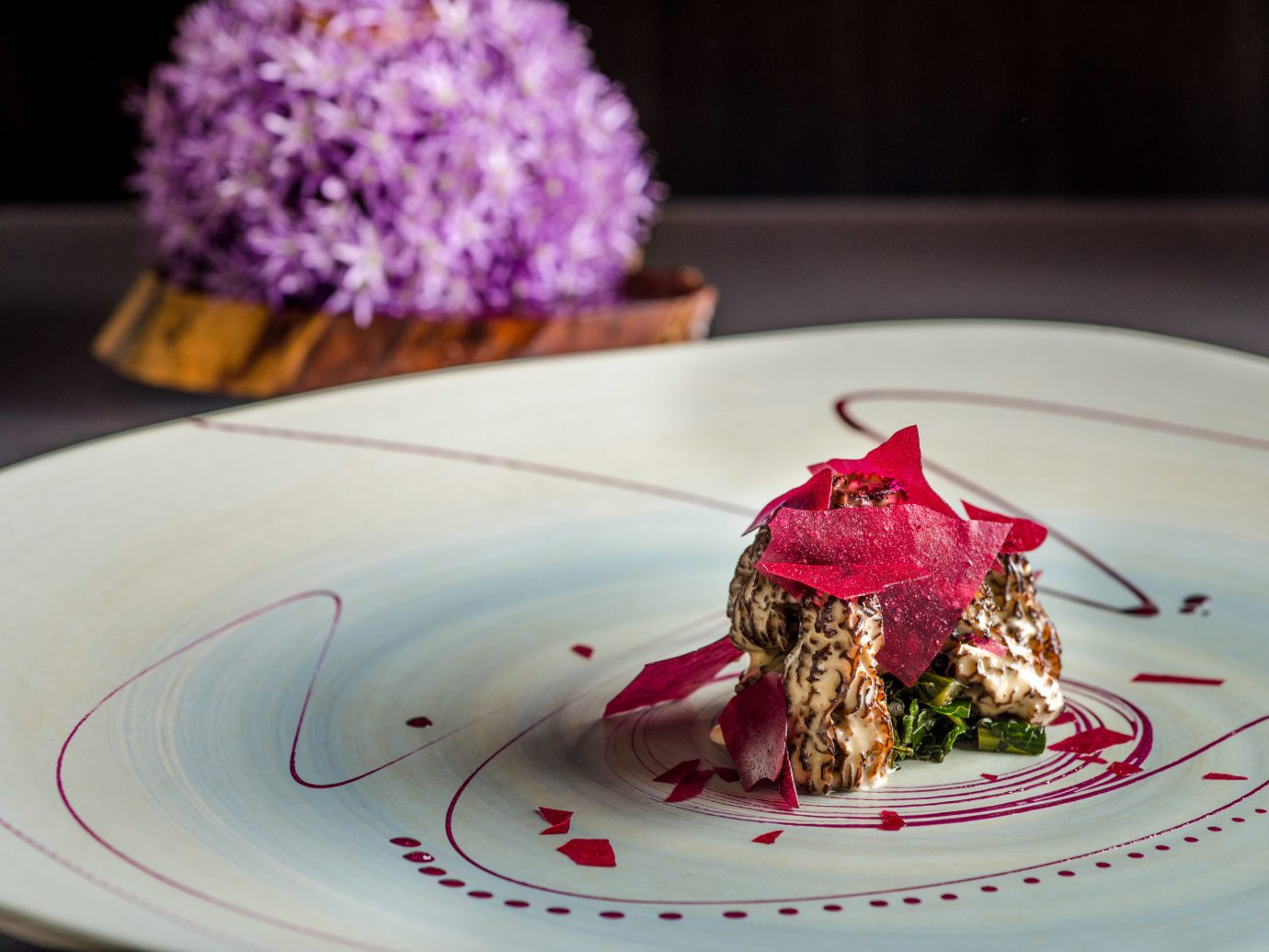 Food + Drink plate table cake food dish dessert flower produce slice icing white meal sweetness piece de resistance