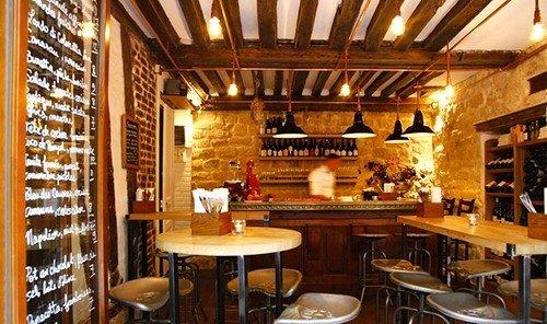 Food + Drink indoor ceiling restaurant Bar estate interior design café