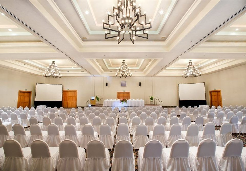 function hall banquet wedding aisle ceremony ballroom conference hall counter wedding reception long event auditorium Party convention center lined conference room
