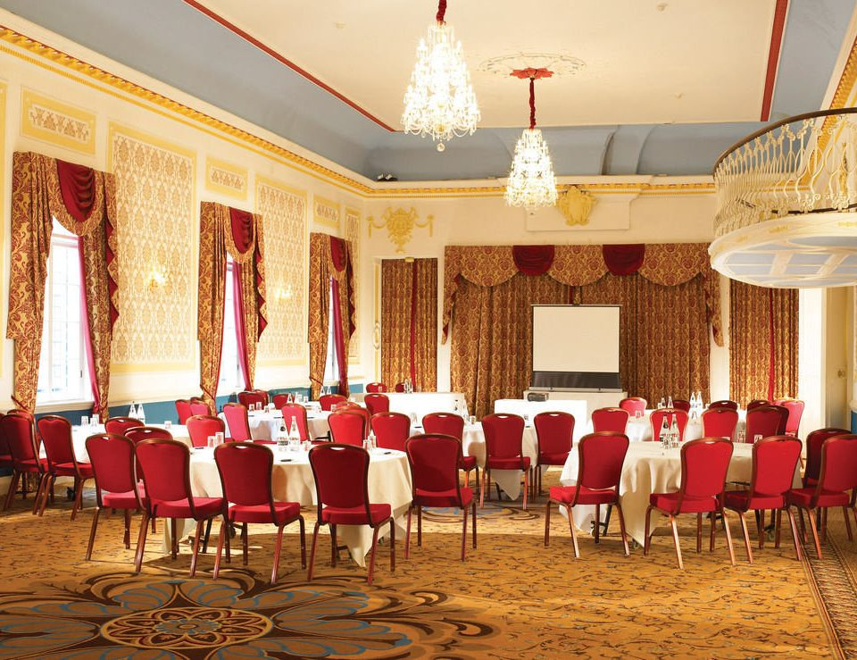 chair function hall banquet red wedding ceremony ballroom palace aisle wedding reception conference hall Party auditorium restaurant line