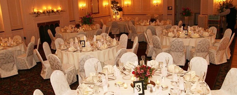 aisle wedding function hall banquet ceremony wedding reception quinceañera ballroom Party gown dining table