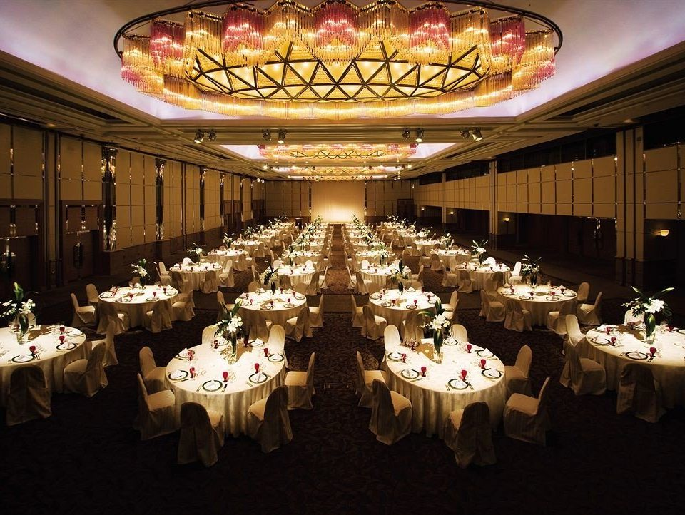 function hall banquet wedding ceremony wedding reception ballroom Party centrepiece event convention center aisle