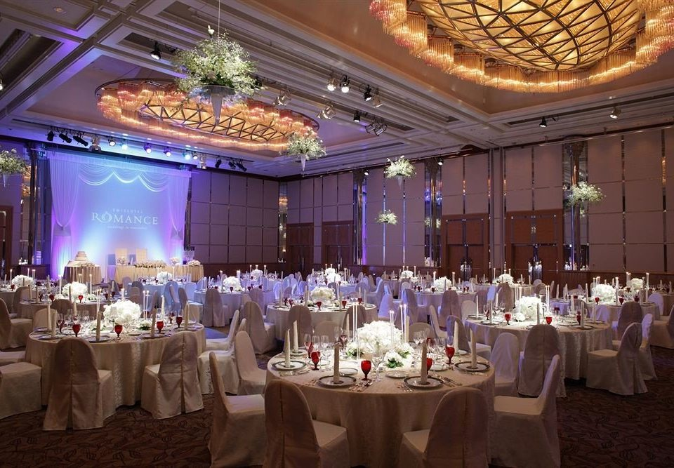 function hall wedding wedding reception banquet ceremony ballroom Party quinceañera event centrepiece aisle long fancy