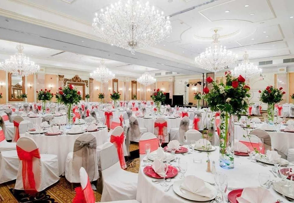 function hall banquet wedding reception aisle centrepiece Party quinceañera ceremony wedding ballroom floristry rehearsal dinner dining table