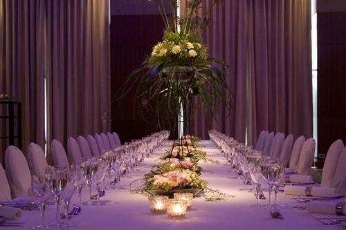 curtain function hall centrepiece wedding banquet ceremony purple wedding reception quinceañera flower flower arranging Party floristry ballroom event floral design aisle fancy set dining table