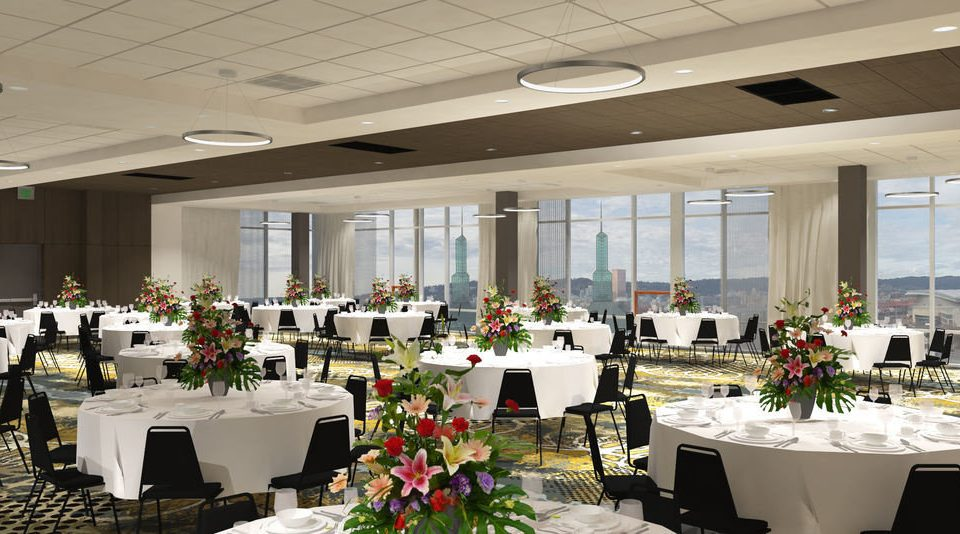 function hall banquet ceremony ballroom floristry aisle wedding reception Party convention center conference hall dining table