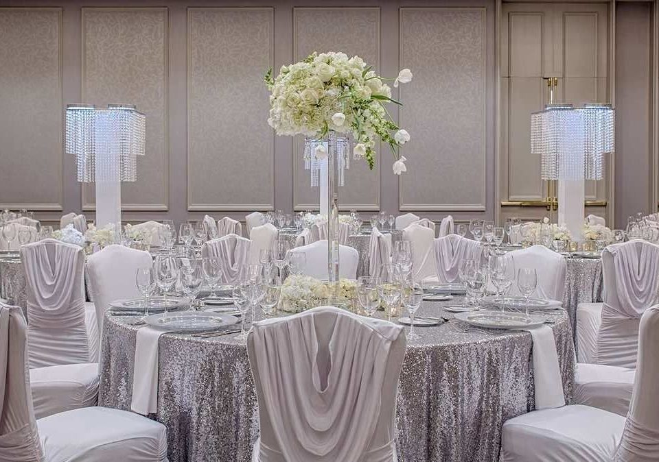 chair centrepiece function hall wedding banquet aisle wedding reception ceremony Party ballroom quinceañera flower arranging floristry flower floral design rehearsal dinner fancy set