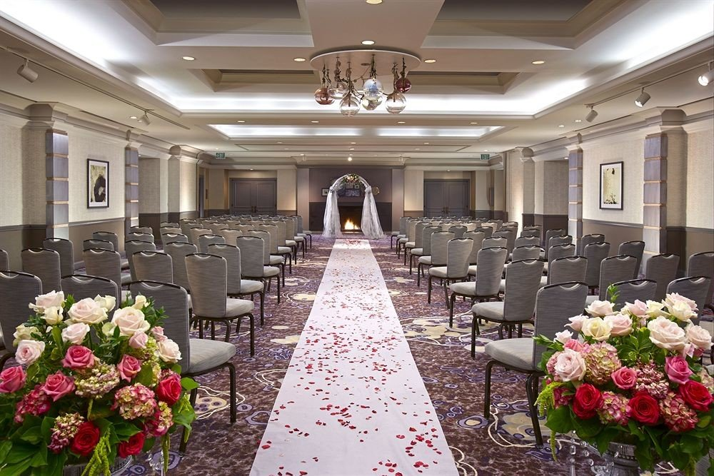 aisle flower function hall wedding ceremony banquet floristry ballroom wedding reception flower arranging Party luxury vehicle conference hall mansion floral design set