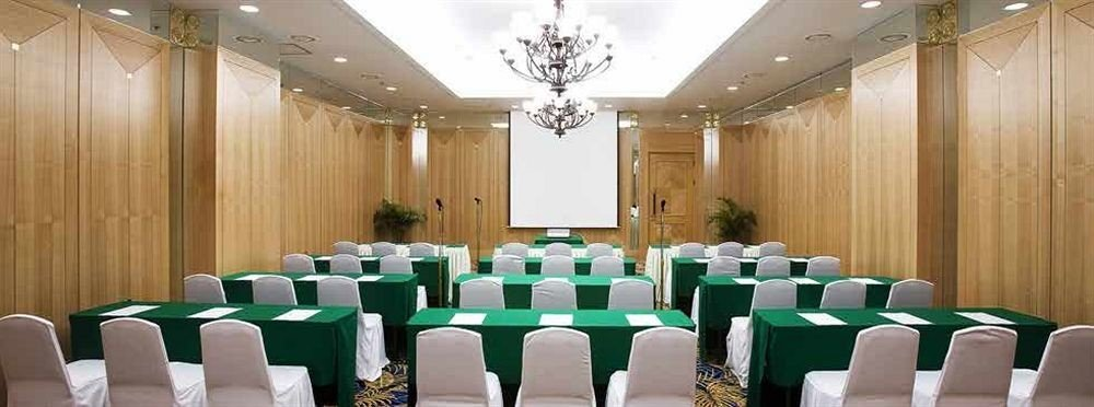green chair function hall conference hall banquet scene ceremony wedding auditorium ballroom Party white meeting convention center event conference room set arranged colored