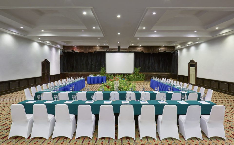 auditorium function hall conference hall banquet convention center ballroom Party meeting lined conference room long line arranged
