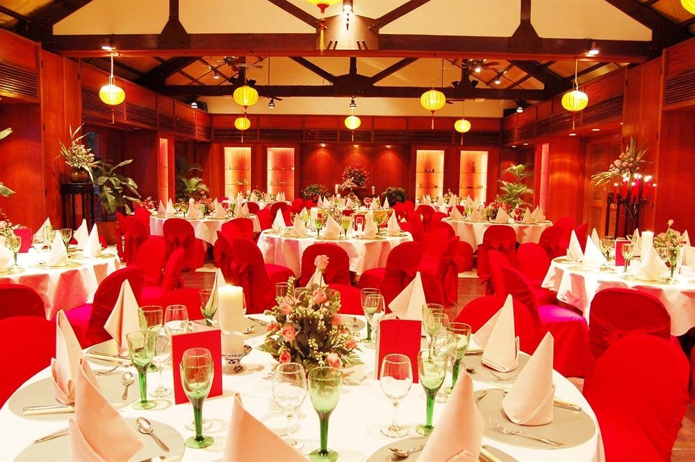 function hall banquet wedding quinceañera ceremony wedding reception ballroom Party arranged dining table