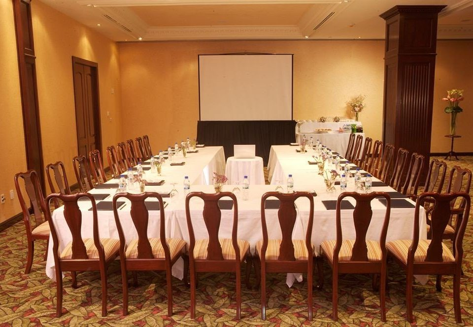 chair function hall banquet restaurant conference hall Party ballroom wedding reception dining table arranged