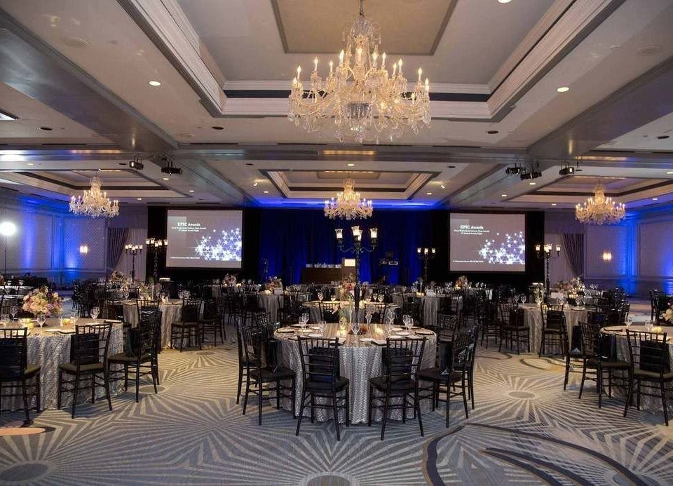 function hall banquet scene ballroom conference hall wedding reception convention center auditorium Party blue