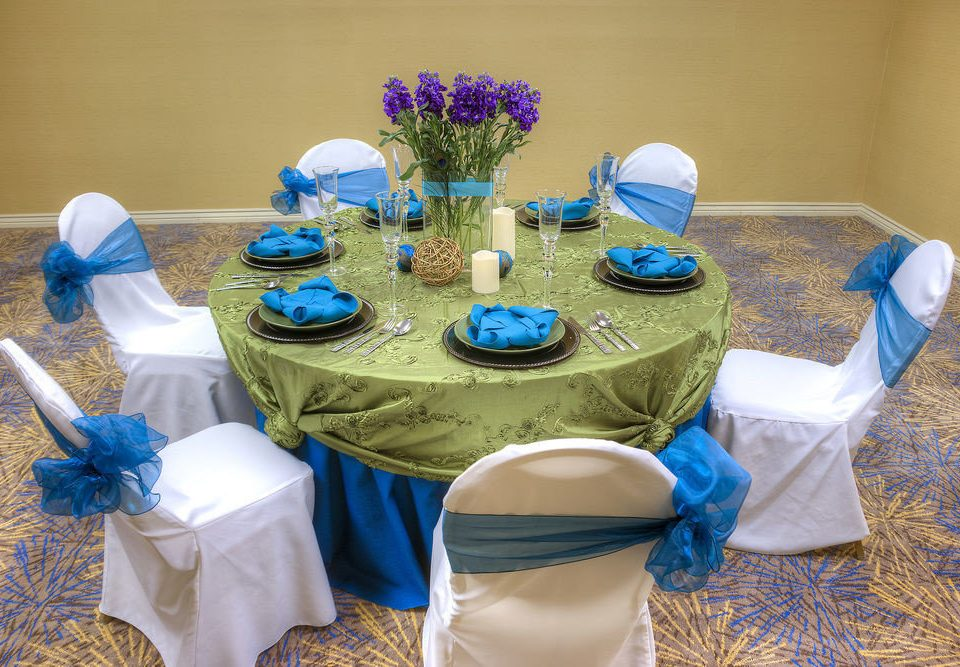 blue centrepiece flower Party event baby shower