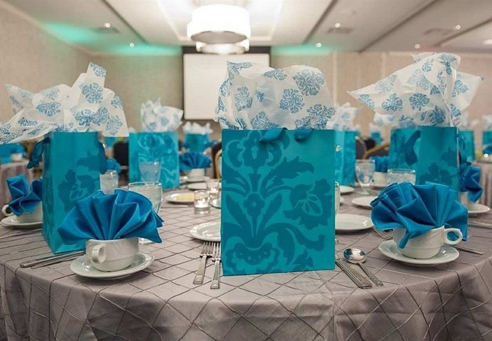 blue Party baby shower centrepiece event