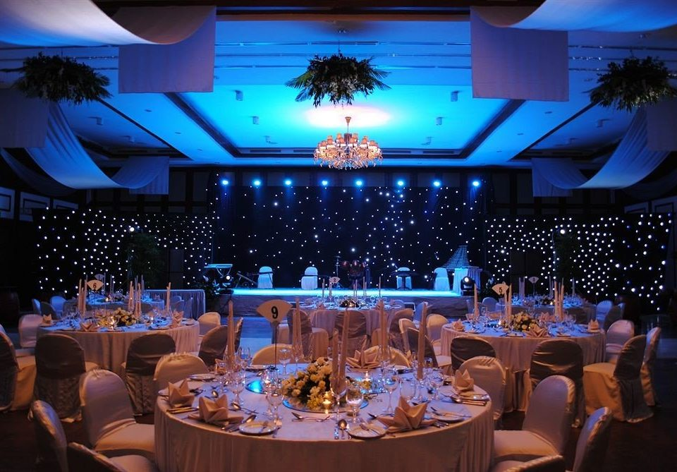 function hall banquet ceremony wedding Party wedding reception ballroom blue restaurant