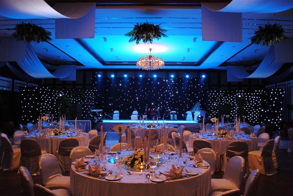 function hall banquet ceremony wedding Party wedding reception ballroom blue restaurant