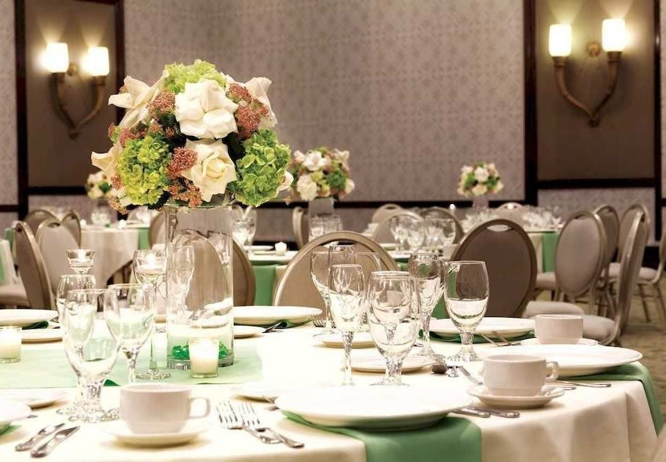 centrepiece banquet function hall flower arranging wedding restaurant floristry ceremony Party rehearsal dinner wedding reception brunch floral design flower ballroom set dinner dining table