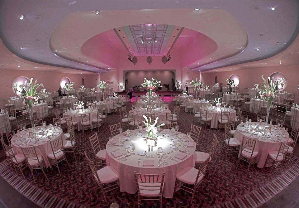 pink function hall centrepiece banquet wedding quinceañera Party wedding reception ceremony ballroom