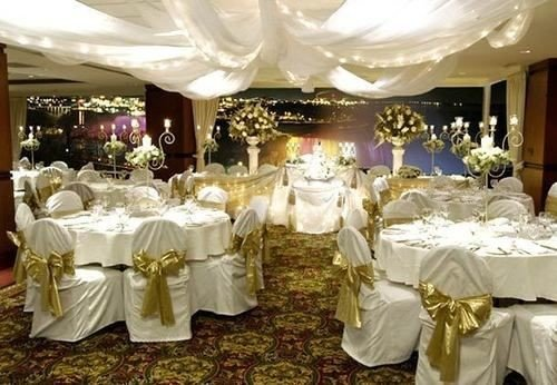 function hall wedding banquet wedding reception centrepiece Party ceremony quinceañera ballroom cloth fancy