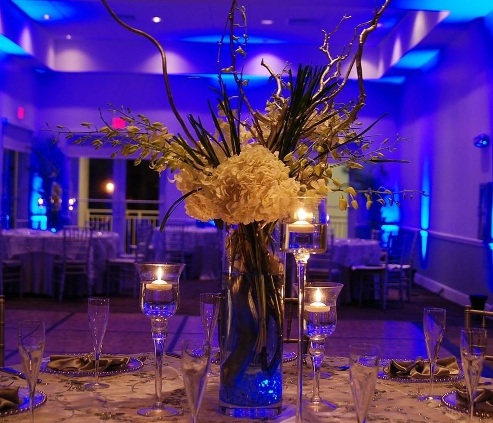 centrepiece function hall scene wedding reception lighting Party banquet ballroom flower